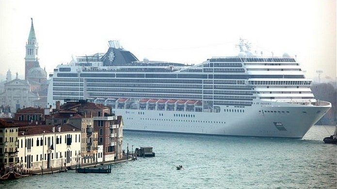 A Giant Cruise Ship Landed In Venice