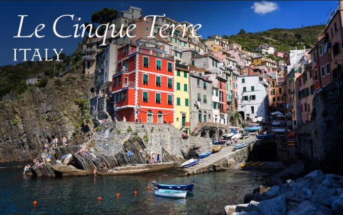 Map of the Cinque Terre with major Places  Towns  Explore to World