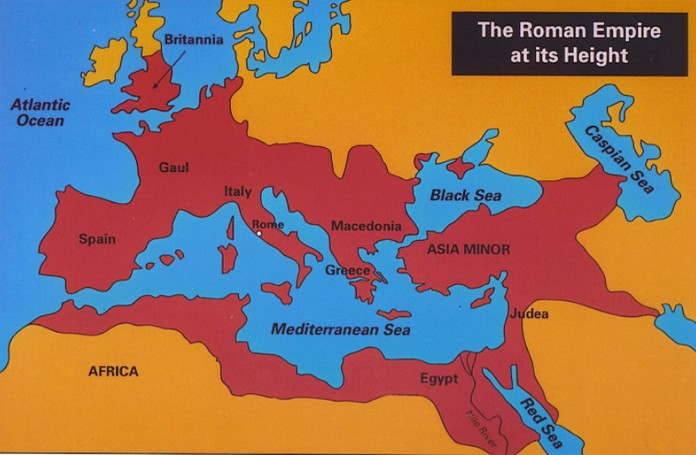 The Roman Empire Map With Miles Of Roadways Explore To World - Egypt and rome map