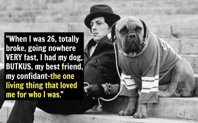 Sylvester Stallone and his Dog Butkus