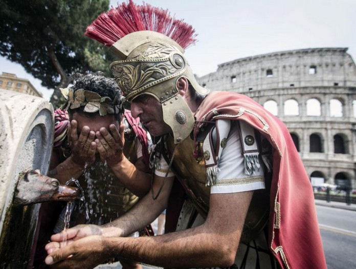 Image result for images of heatwave in rome