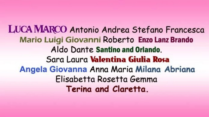 14 Beautiful Italian Names and Their Meanings