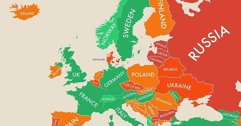Maps show the happiest countries in the world maps show the happiest countries in the world gumiabroncs Image collections
